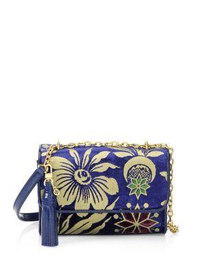 cd10724406e TORY BURCH Cosmic Floral Velvet Shoulder Bag.  toryburch  bags  shoulder  bags  stone  velvet  metallic