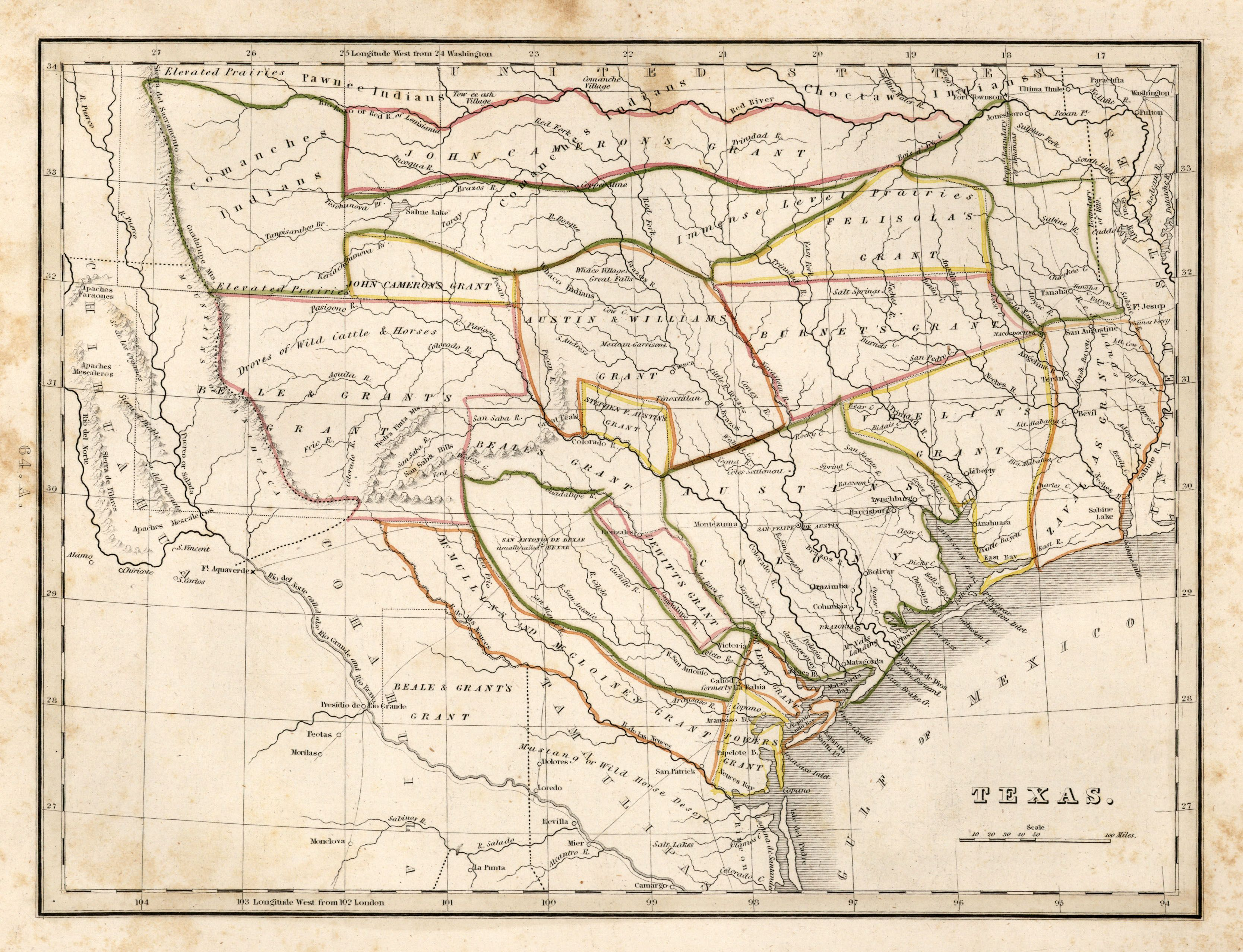 Map Of Texas 1835.Historical Maps 1835 Texas Historical Map See Map Details From Www