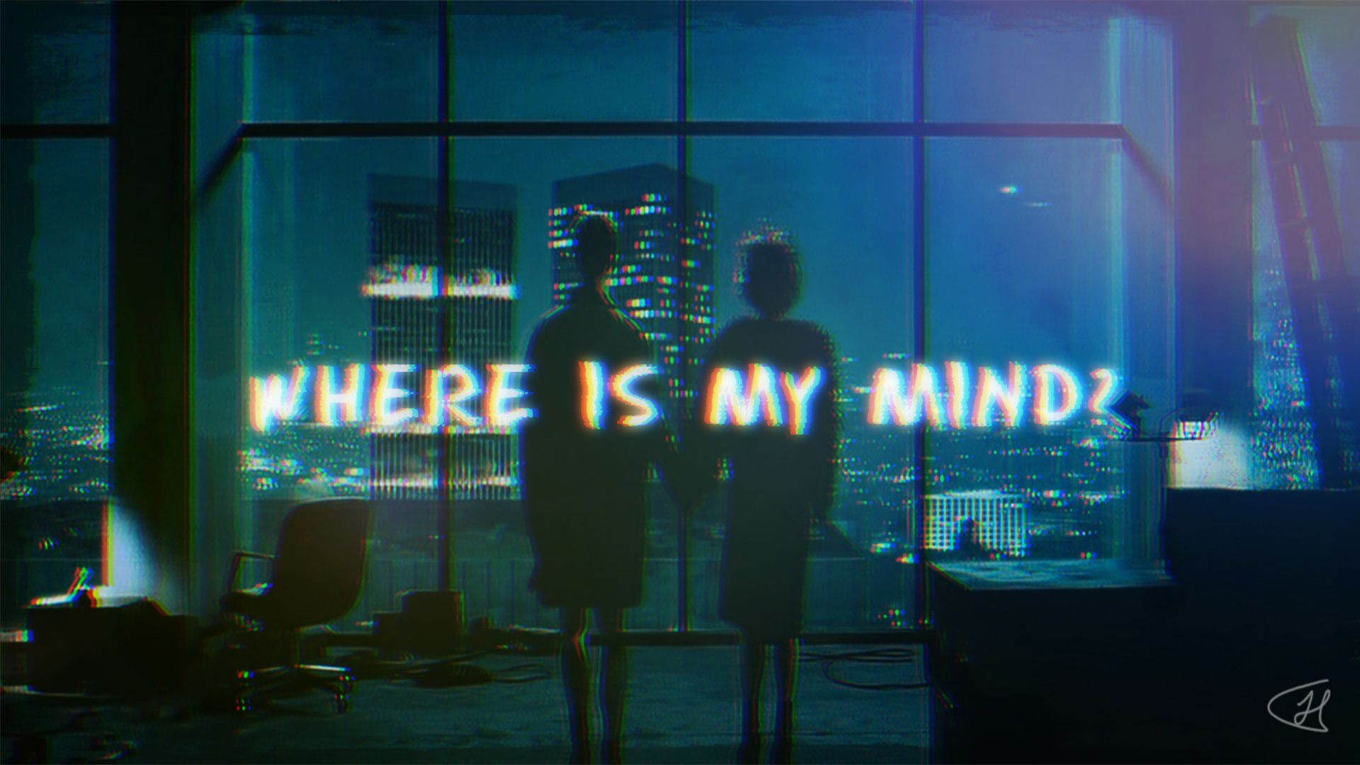 Fight Club Where Is My Mind Song Scene Desktop Wallpaper 1920x1080 Desktop Wallpaper 1920x1080 Where Is My Mind Neon Signs Fight club desktop wallpaper hd