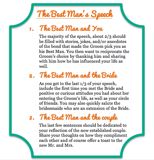 How to write a groomsman speech