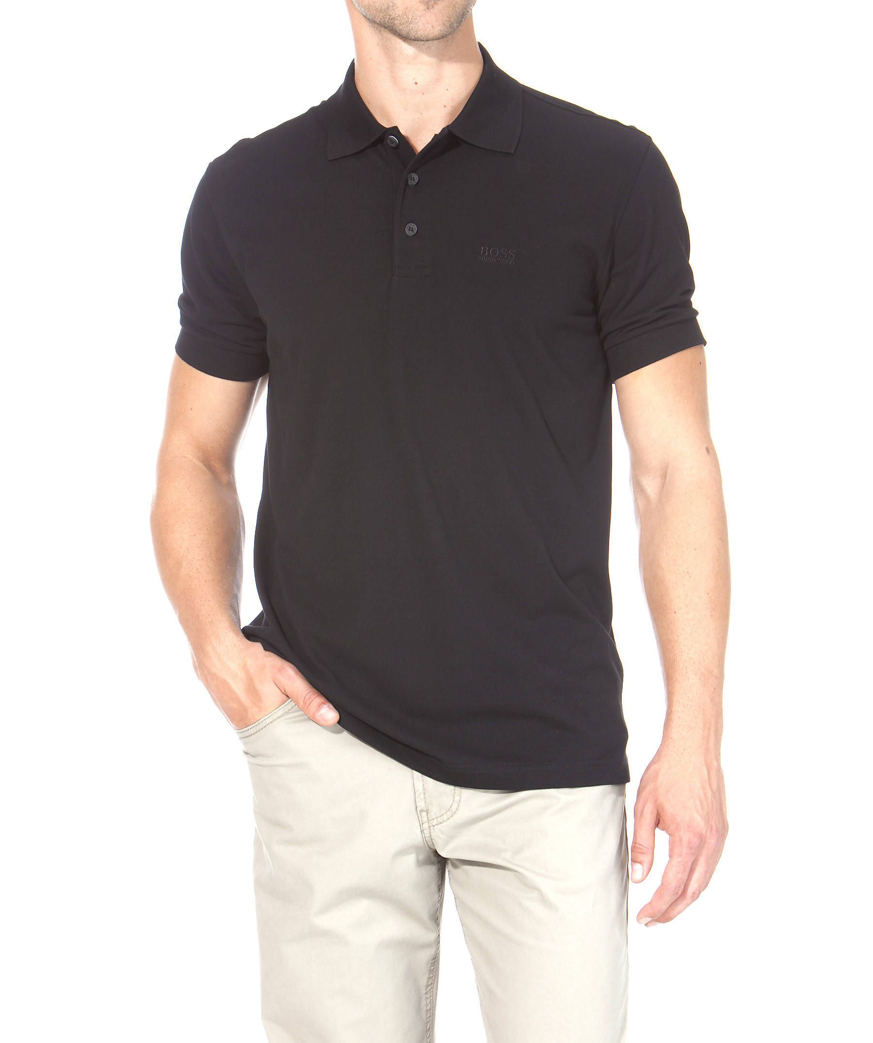 3856cd4169c34f Casual Boss Black Polo Shirt