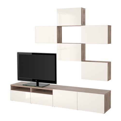 best combinaison meuble tv blanc selsviken brillant blanc glissi re tiroir fermeture. Black Bedroom Furniture Sets. Home Design Ideas