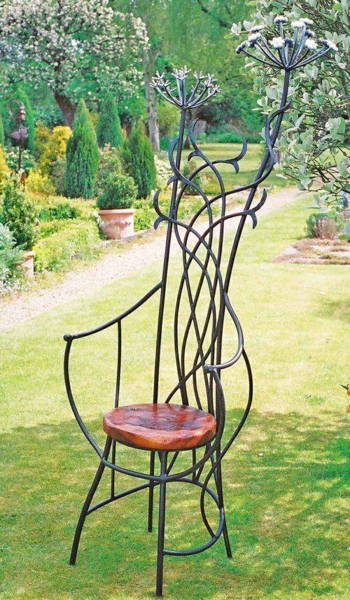 Great Gartenmöbel Ideen Stuhl Aus Holz Und Metall Gallery