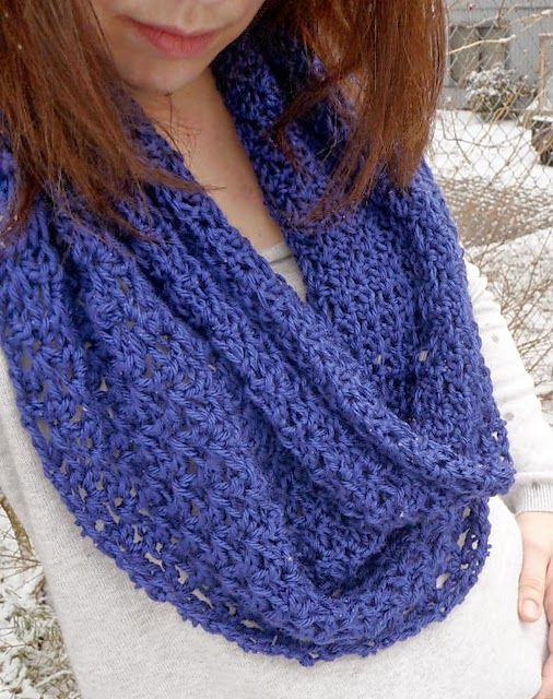 Free Crochet Pattern Lace Circle Scarf Bufandas Cuellos Wraps