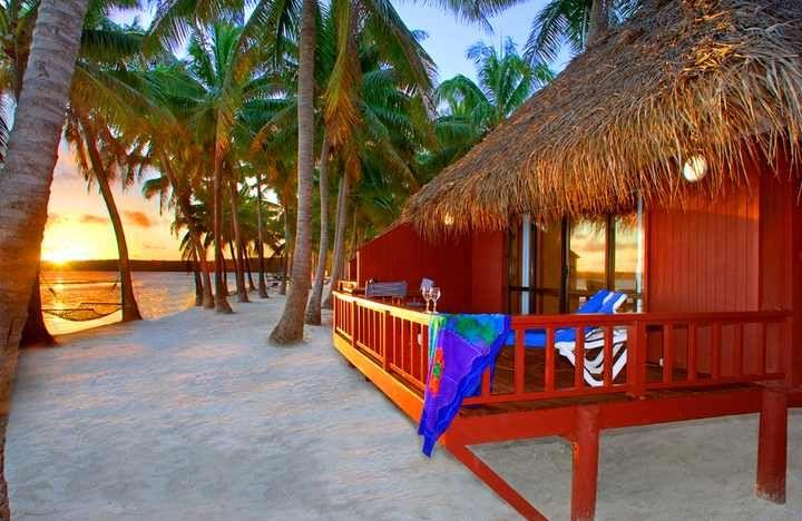 In the mood for an exotic beach vacation.  Aitutaki Lagoon Resort, Cooks Island