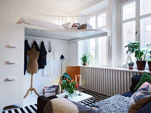 die passende einrichtung f r das kleines schlafzimmer dekoration pinterest kleines. Black Bedroom Furniture Sets. Home Design Ideas