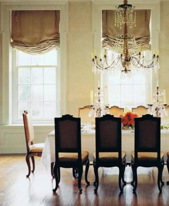 Dining Room W Tall Ceilings And Windows