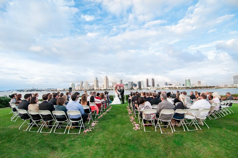 Coronado Island San Go Wedding Centennial Park Bay View