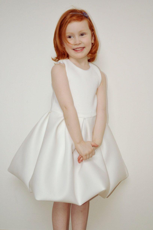 Toddler Girl Blake Dress Off White Flower Girl Dress By Sansahash