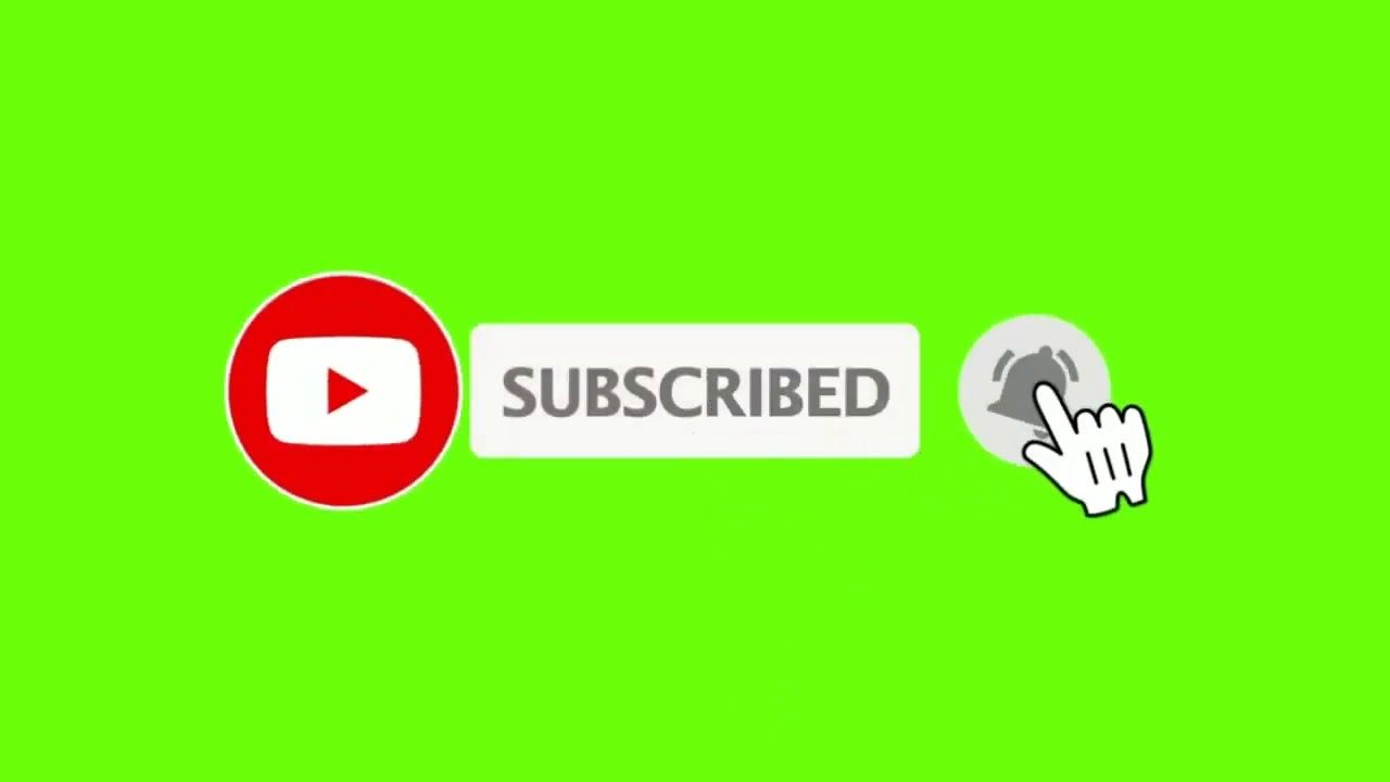 Green Screen Subscribe Button Bell Icon Free Download Youtube Youtube Banner Design Video Design Youtube Youtube Design