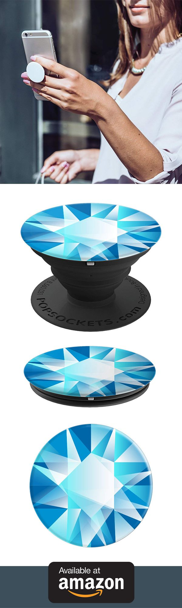 Gems In Blue Stone Gift Popsockets Grip And Stand For Phones And Tablets Pop Sockets Iphone Popsockets Diy Pop Socket