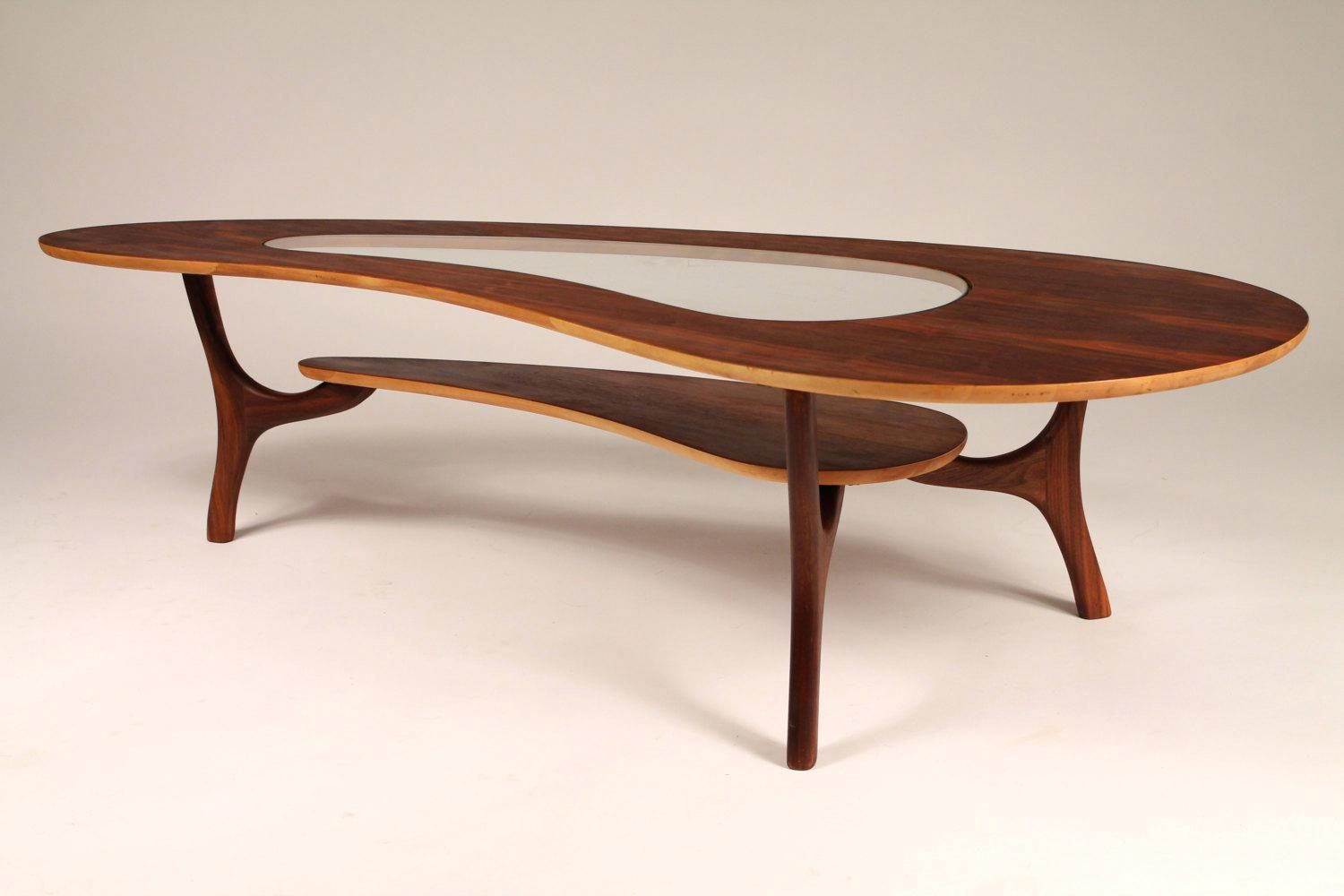 Image Result For Kidney Shaped Coffee Table With Glass Insert