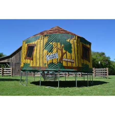 JumpPod 15 ft Round Tr&oline with Detachable Tree House Tent Enclosure  sc 1 st  Pinterest : trampoline with tent enclosure - memphite.com