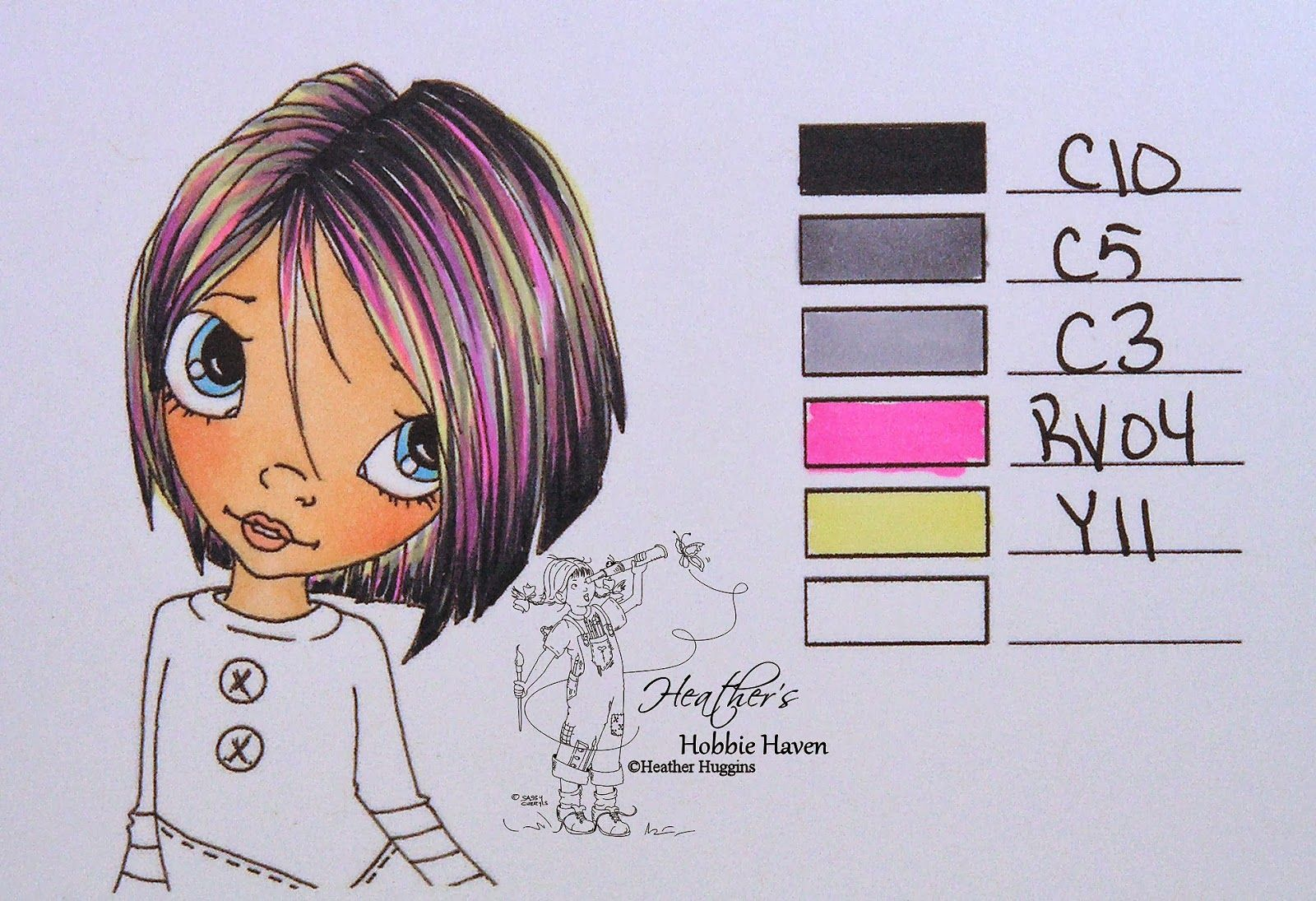 Heather's Hobbie Haven - Copic Hair Color