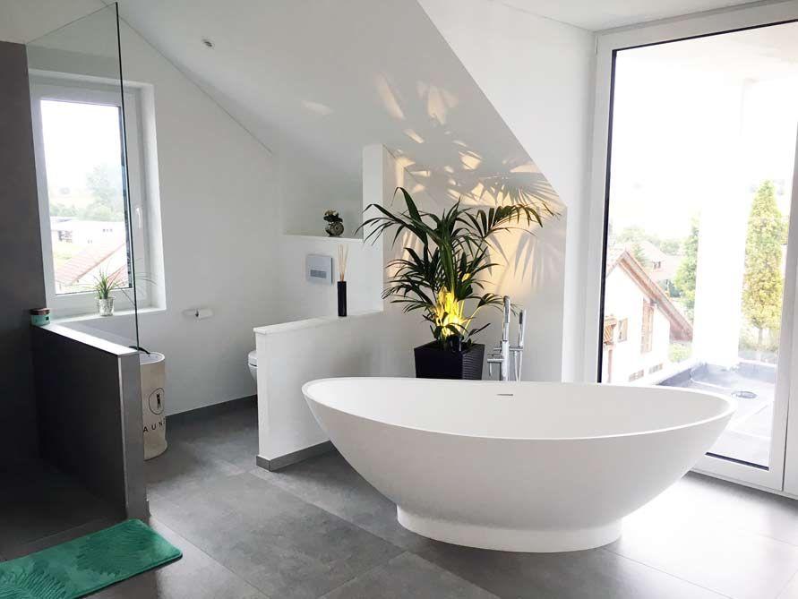 Freistehende Badewanne Como aus Mineralguss - Weiß matt oder ...