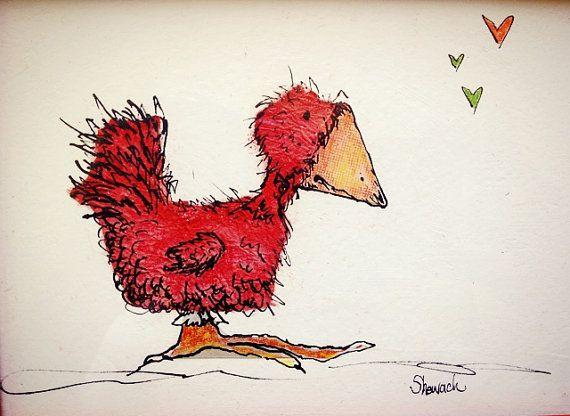 Red Bird Red by AutumnShewach on Etsy, $35.00