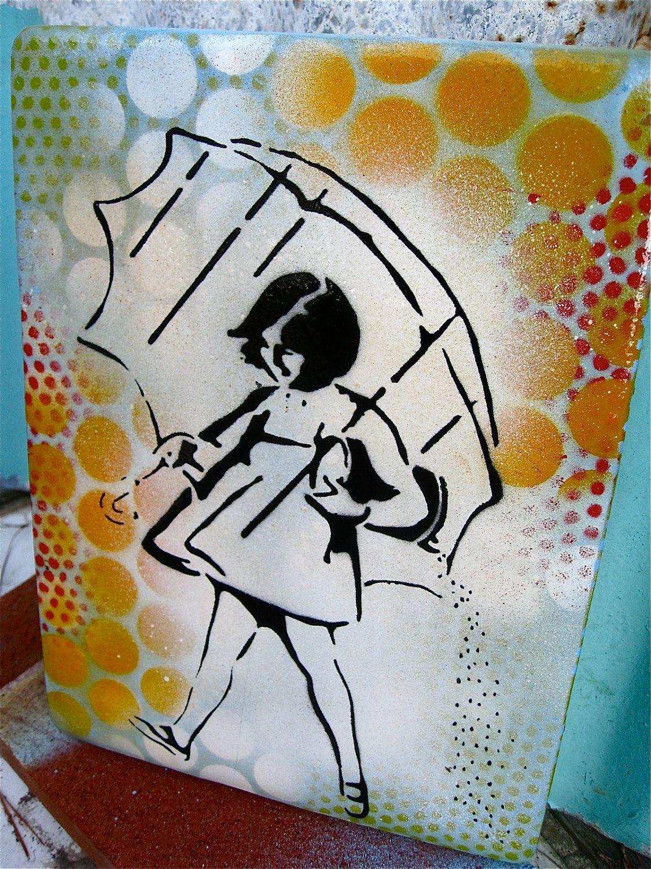 Graffiti art on wood - Graffiti Art Painting Original Pop Art Handmade Wood Canvas Salt Girl 45 00 Via Etsy