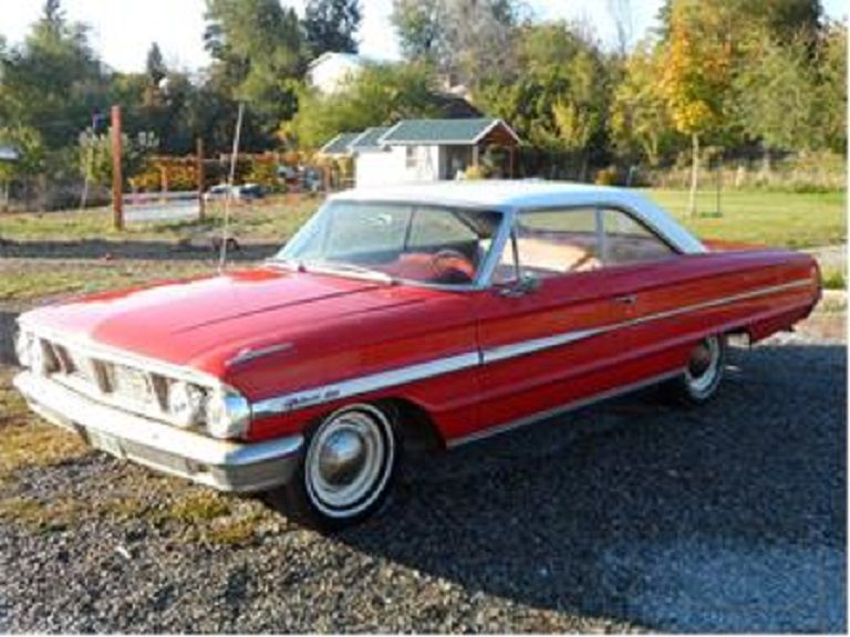 1964 Ford Rangoon Red Galaxie 500 2dr H T With A Wimbledon White Roof And Red Cloth Interior X Code 352 250 H P V8 Engine Automatic Wa