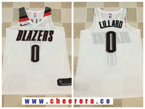 b0d1d0296 Men s Portland Trail Blazers  0 Damian Lillard White 2017-2018 Nike Swingman  Stitched NBA Jersey Our Price    19.9