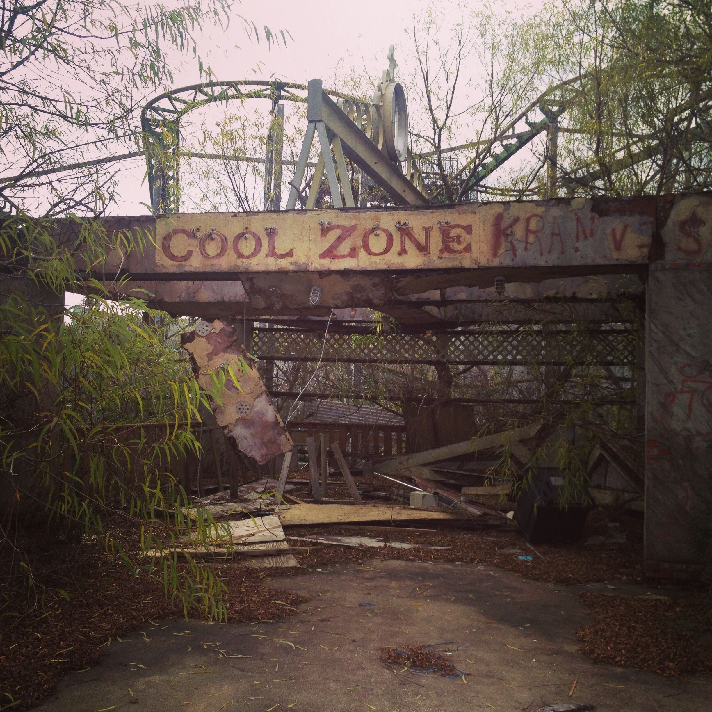 Abandoned Six Flags New Orleans, Louisiana