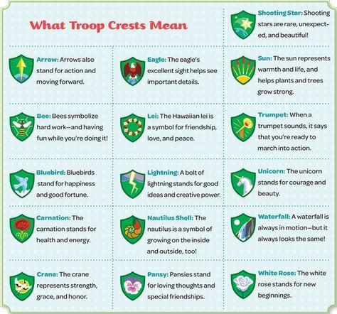 What Troop Crests Mean 2017 Brownie Troop 6308 Pinterest