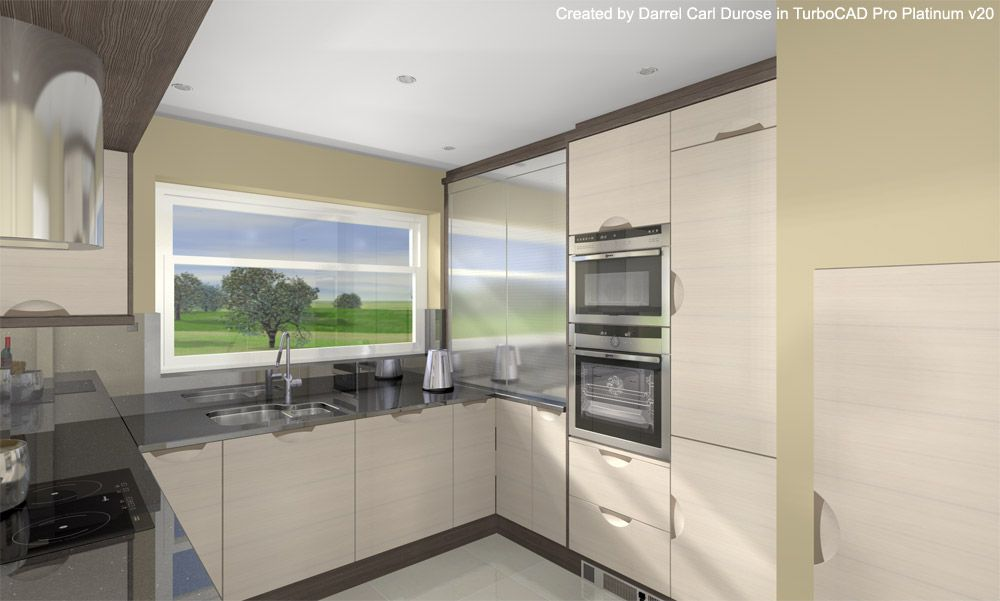Advanced Kitchen Render With Tone Mapping   Created By Darrel Carl Durose  In TurboCAD Pro Platinum