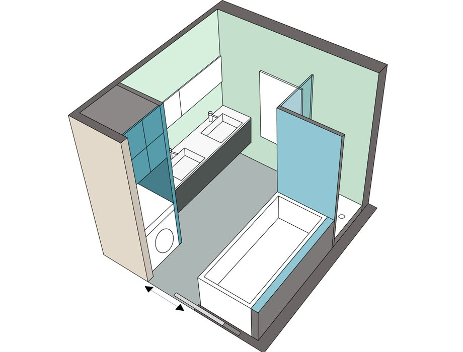 Awesome exemple salle de bain 5m2 contemporary design for Exemple salle de bain 5m2