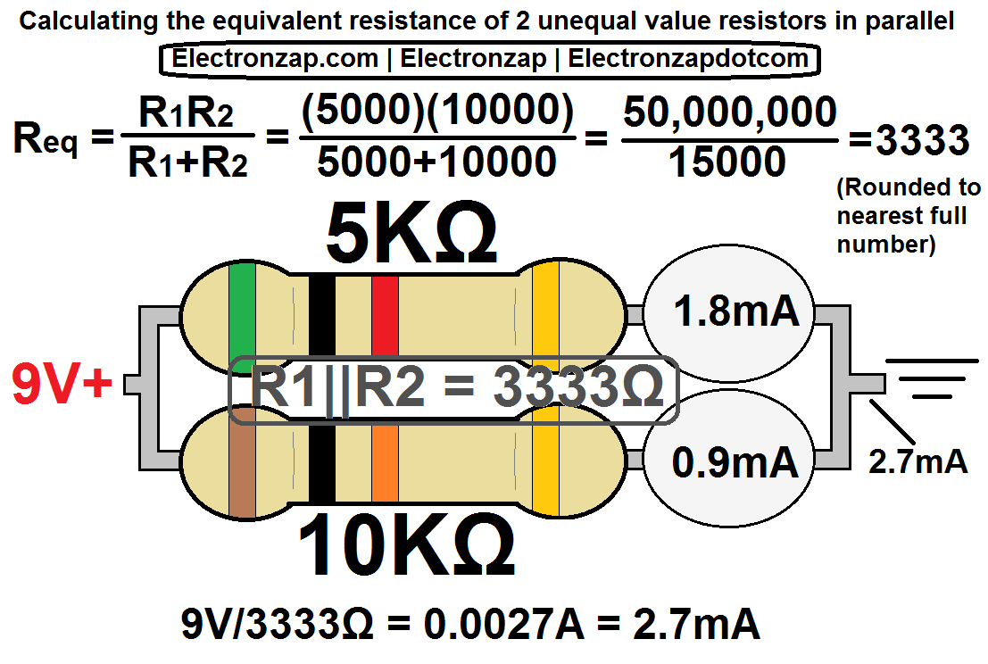 Calculating 2 Parallel Resistors With Different Values By The Photosensitive Resistor Of This Circuit Is A Diagram