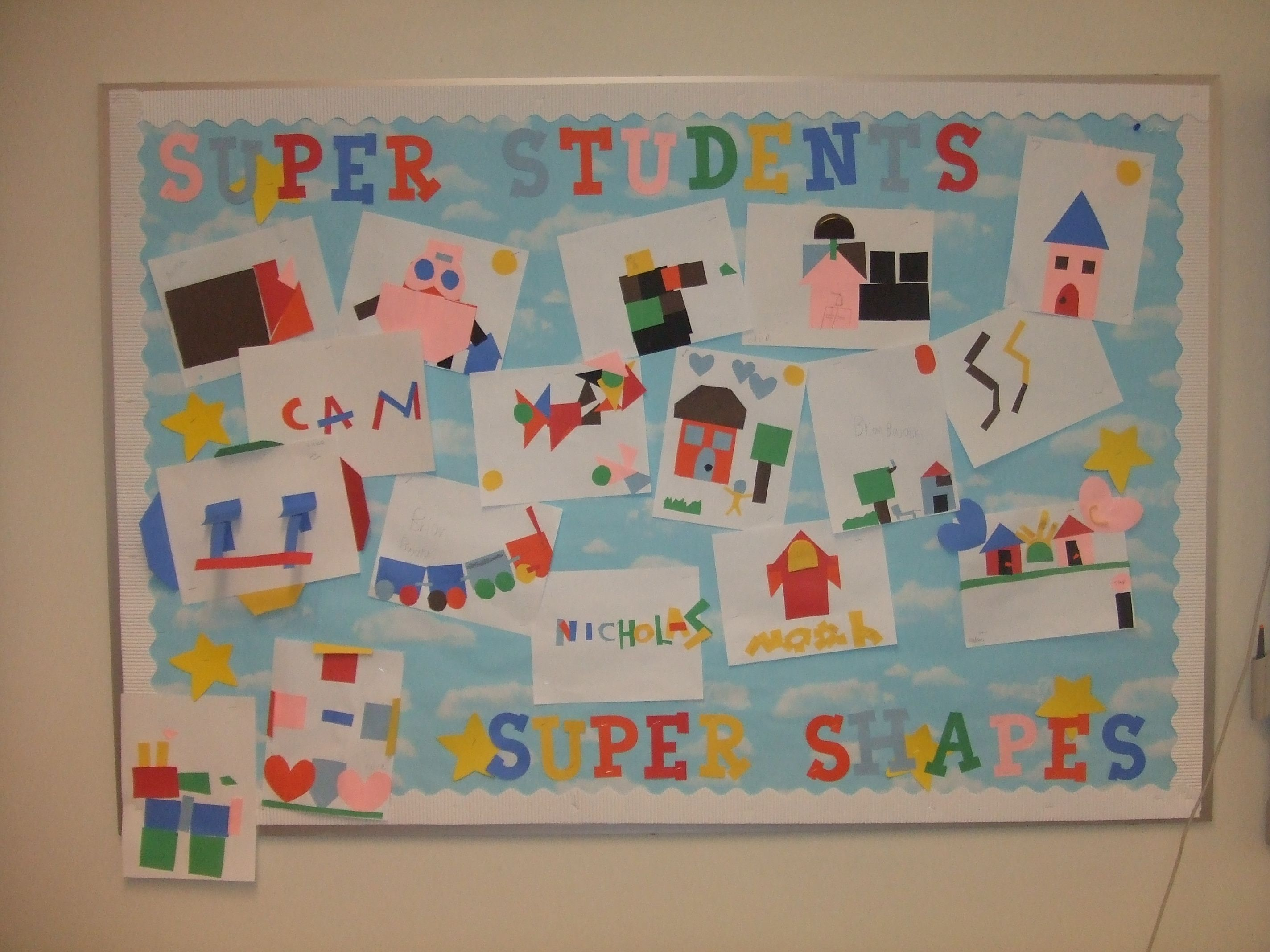 Geometry Shapes Craft And Bulletin Board