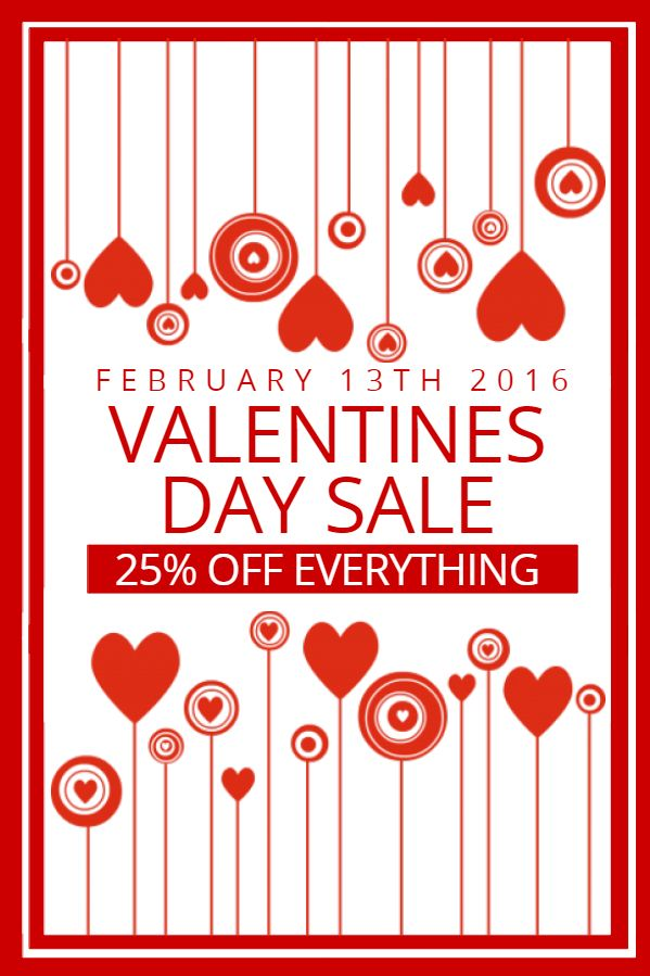Creative Valentine S Day Idea For Retail Poster Template Click To