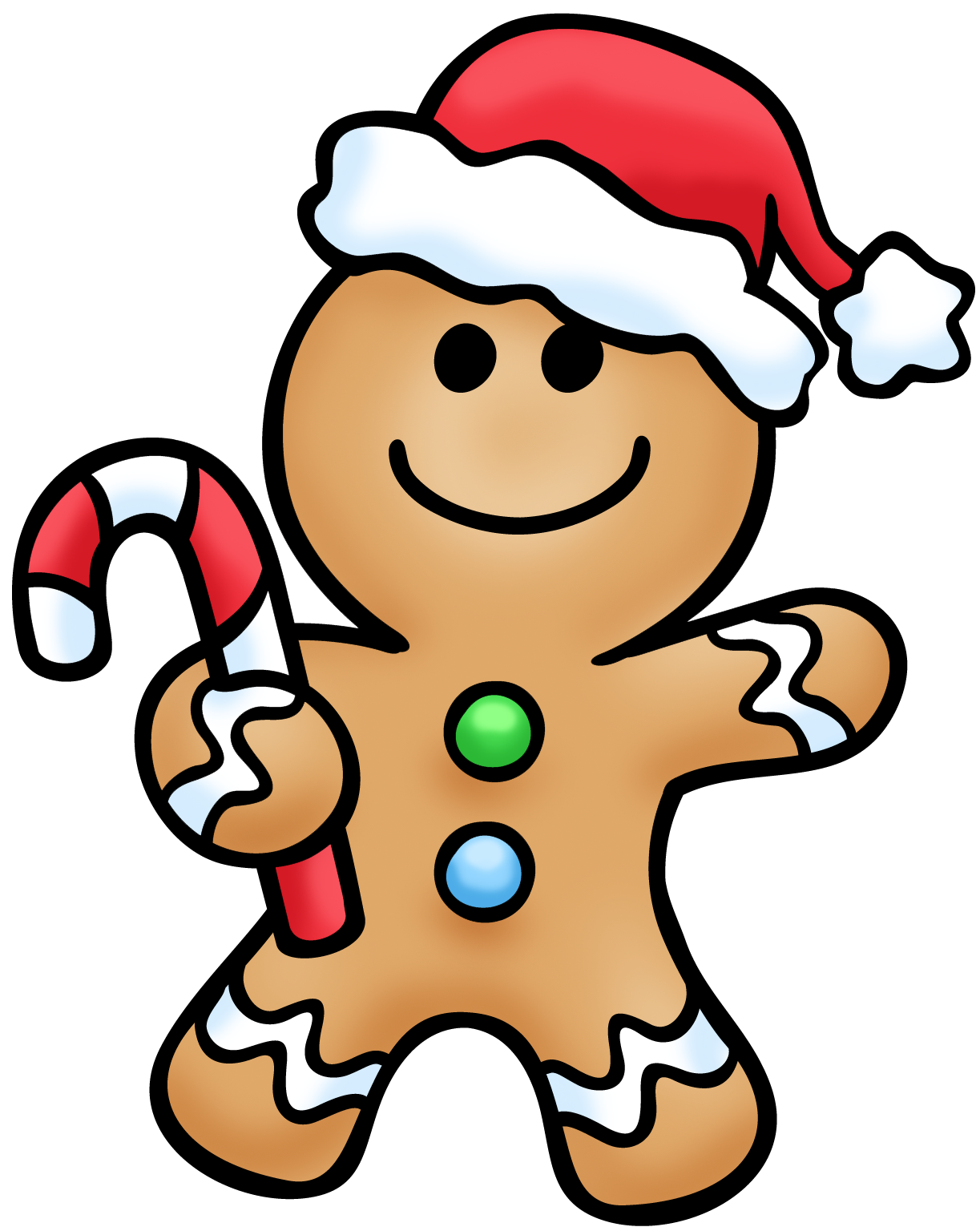 Gingerbread With Hat Santa Clipart Christmas Drawing Christmas Stickers Christmas Art
