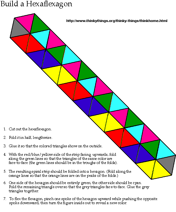 Build A Hexaflexagon By ThinkthingsOrg Flexagons Are Polygons