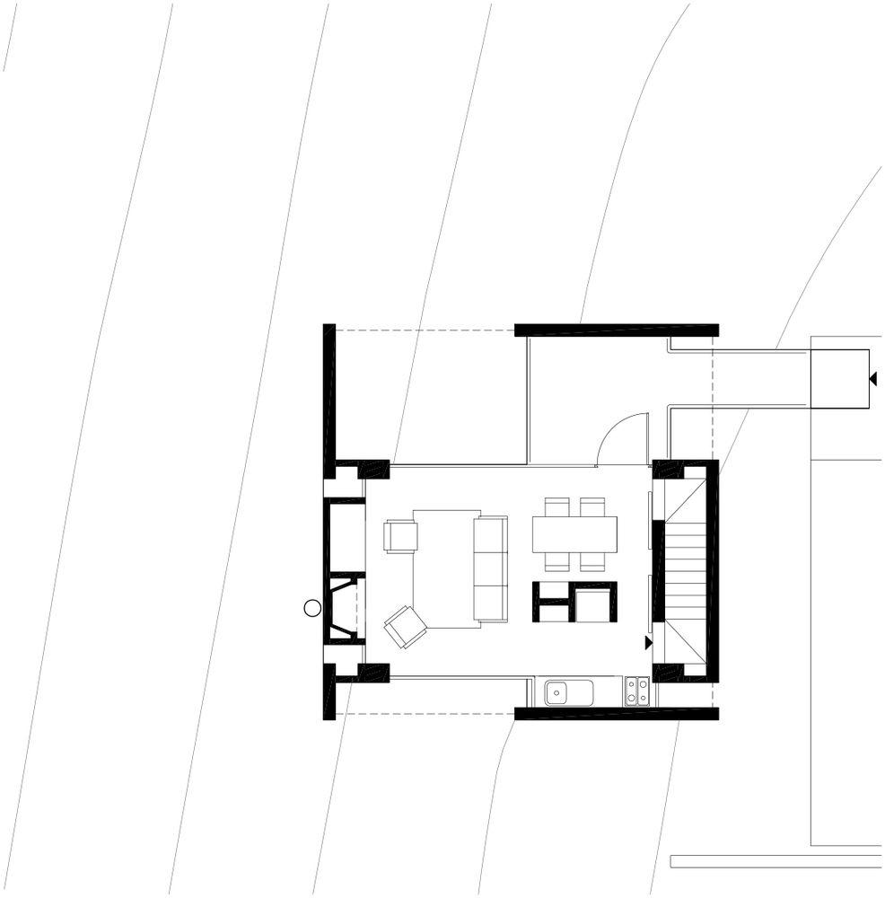 Duas casas na Mantiqueira,Casa B - Planta 01