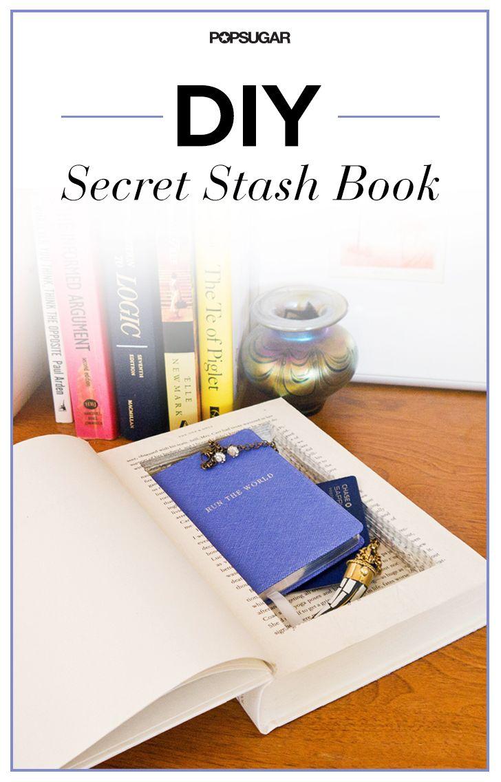 Diy Stash Book For All Your Secret Stuff Easy Diy