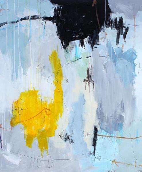 Gretes Kongepuddel 120x50 Bettina Holst I 2020 Kunst Ideer Kunstvaerk Abstrakte Malerier