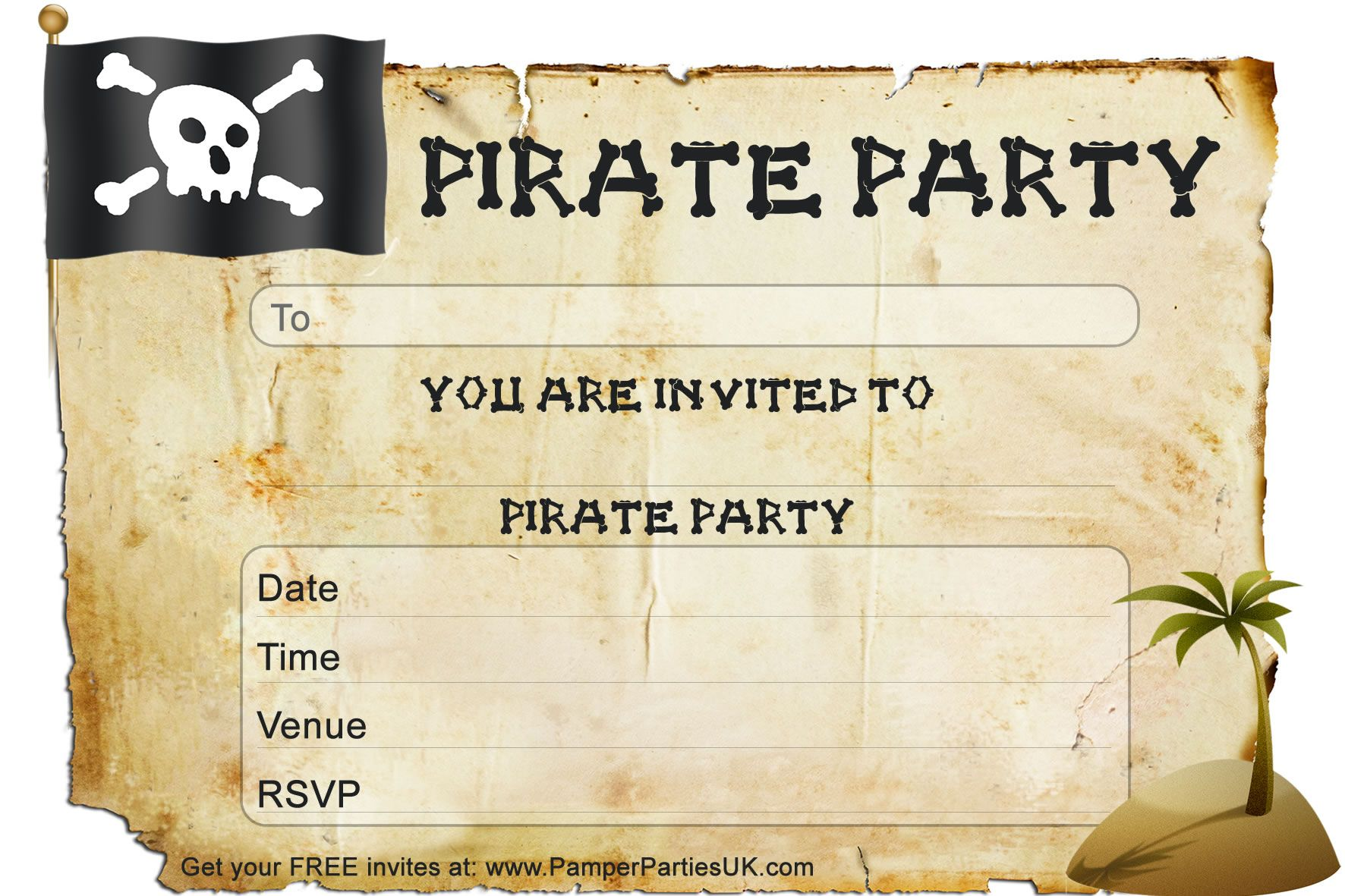 Free Pirate Party Invitations – Free Pirate Party Invitations