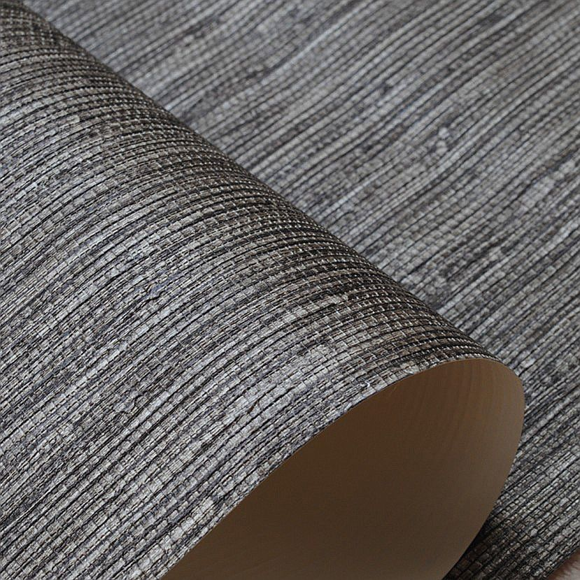 Modern Vinyl Metallic Texture Faux Grasscloth Wallpaper