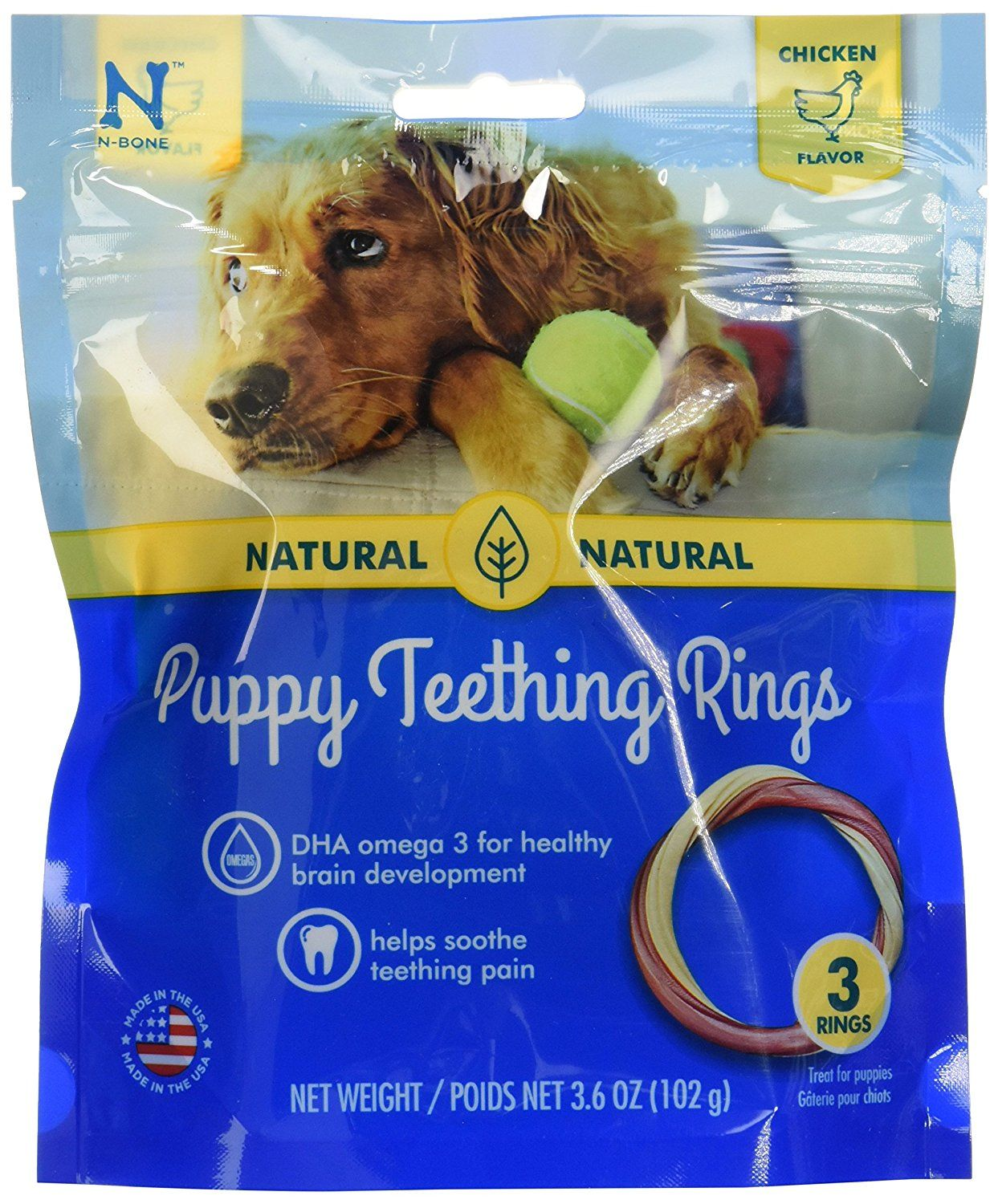 N Bone Puppy Teething Ring Chicken Flavor 3 Pack Don T Get Left Behind See This Great Dog Product Dog Food Types Puppy Teething Puppies Chicken Flavors