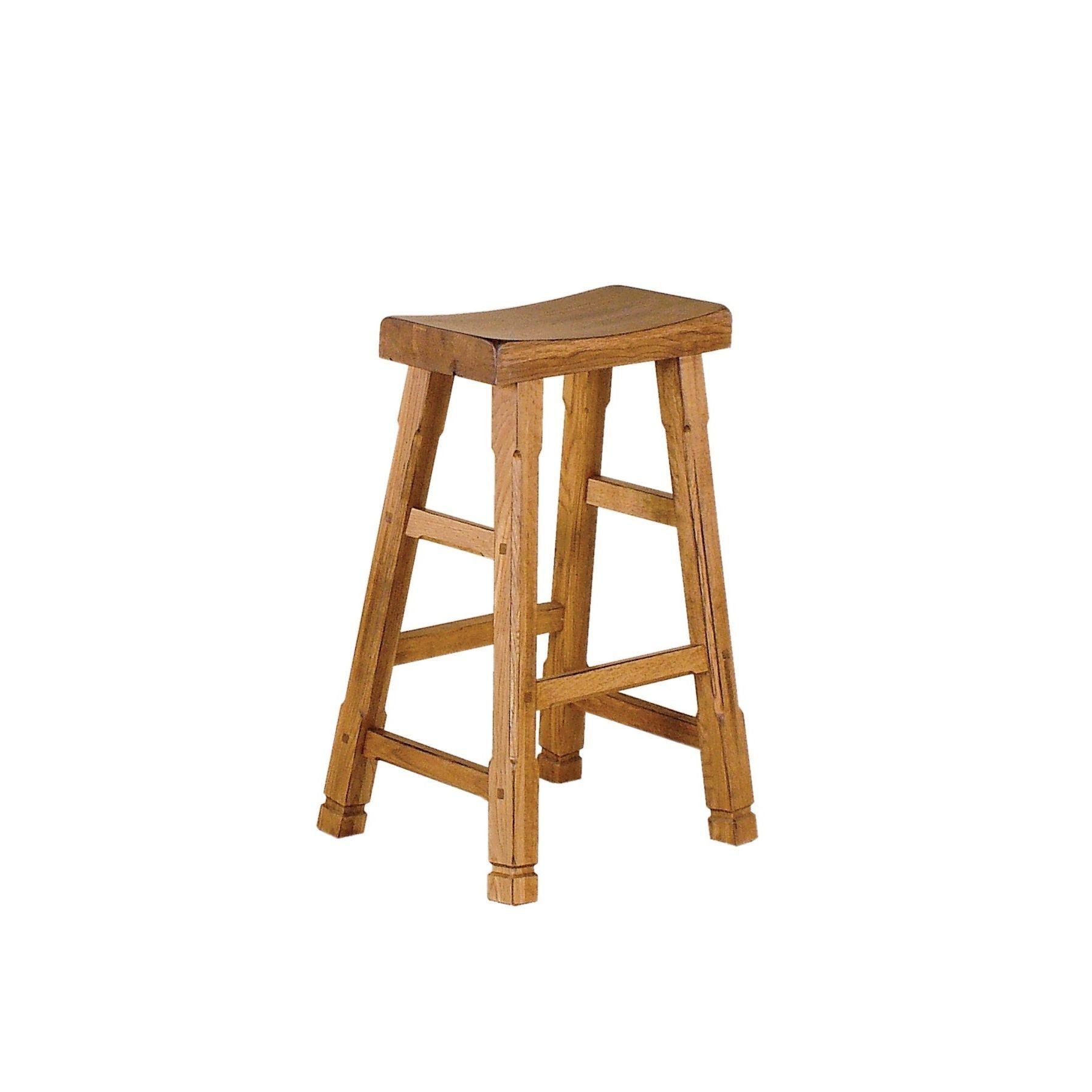 Sunny Designs Sedona 30 Inch Saddle Seat Bar Stool Rustic Oak Tan Mdf