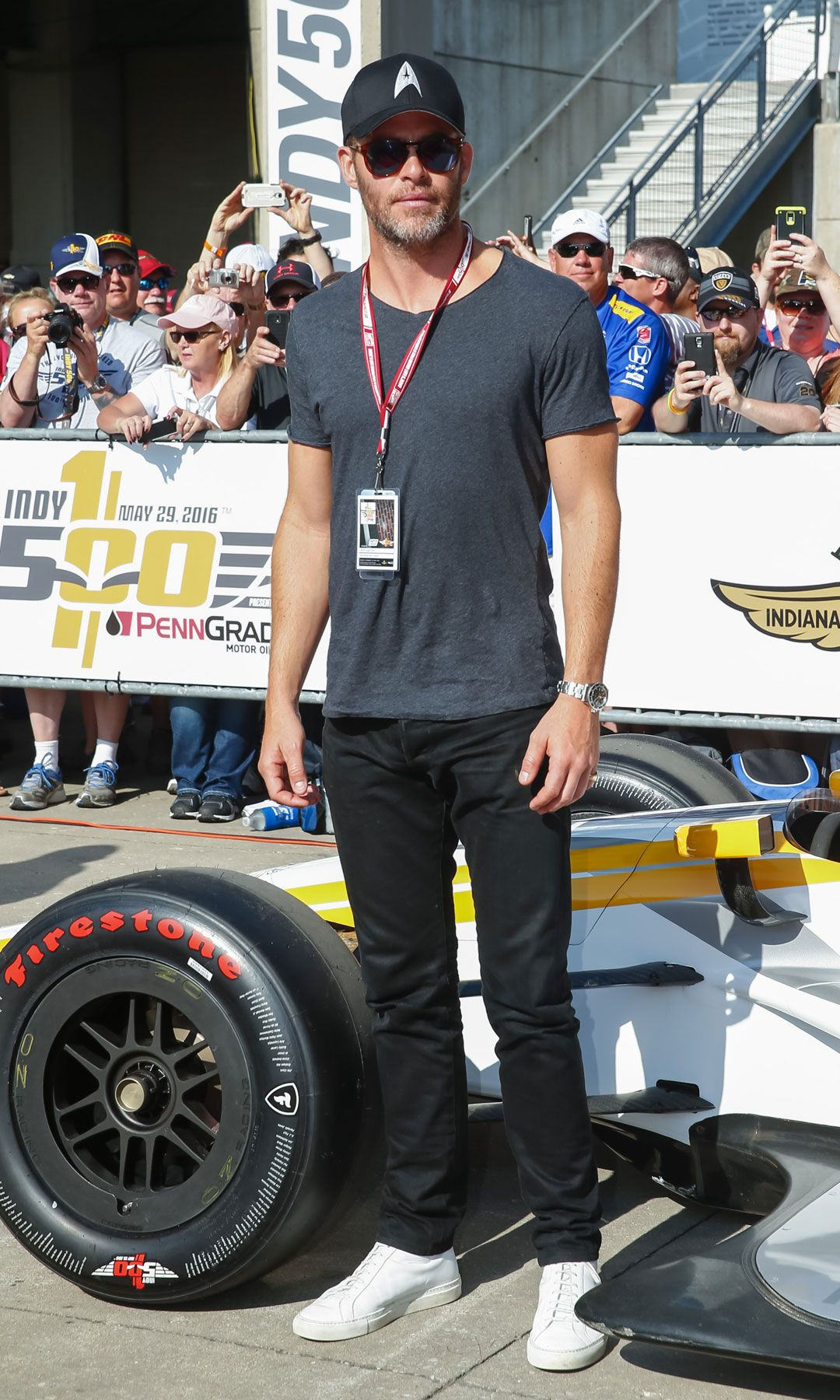 Famous People That Start With D regarding chris pine's appearance at the indy 500 will definitely start your