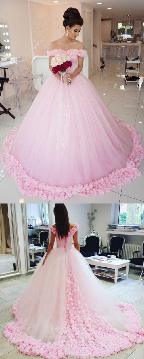 Long Train Wedding Dresses Pink Wedding Dresses Long Wedding