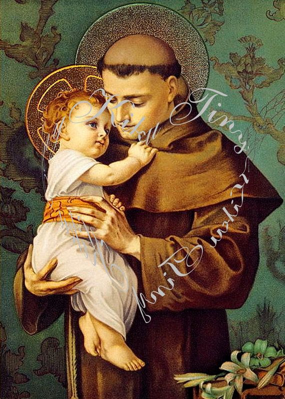 St Anthony Of Padua And Infant Jesus Counted Cross Stitch Pattern