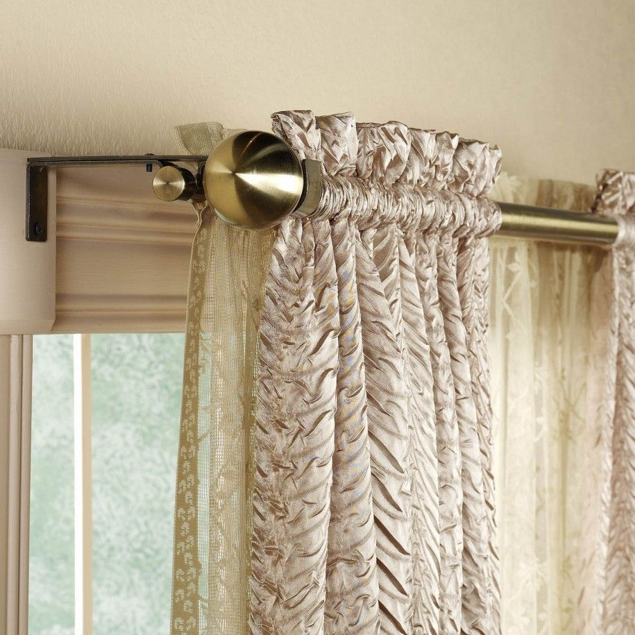 Dream House Using Curved Curtain Rods For Windows : Terrific Design Ideas  Awesome Double Curved Curtain
