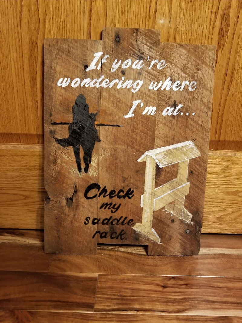 If you're wondering where I'm at... pallet sign (With ...