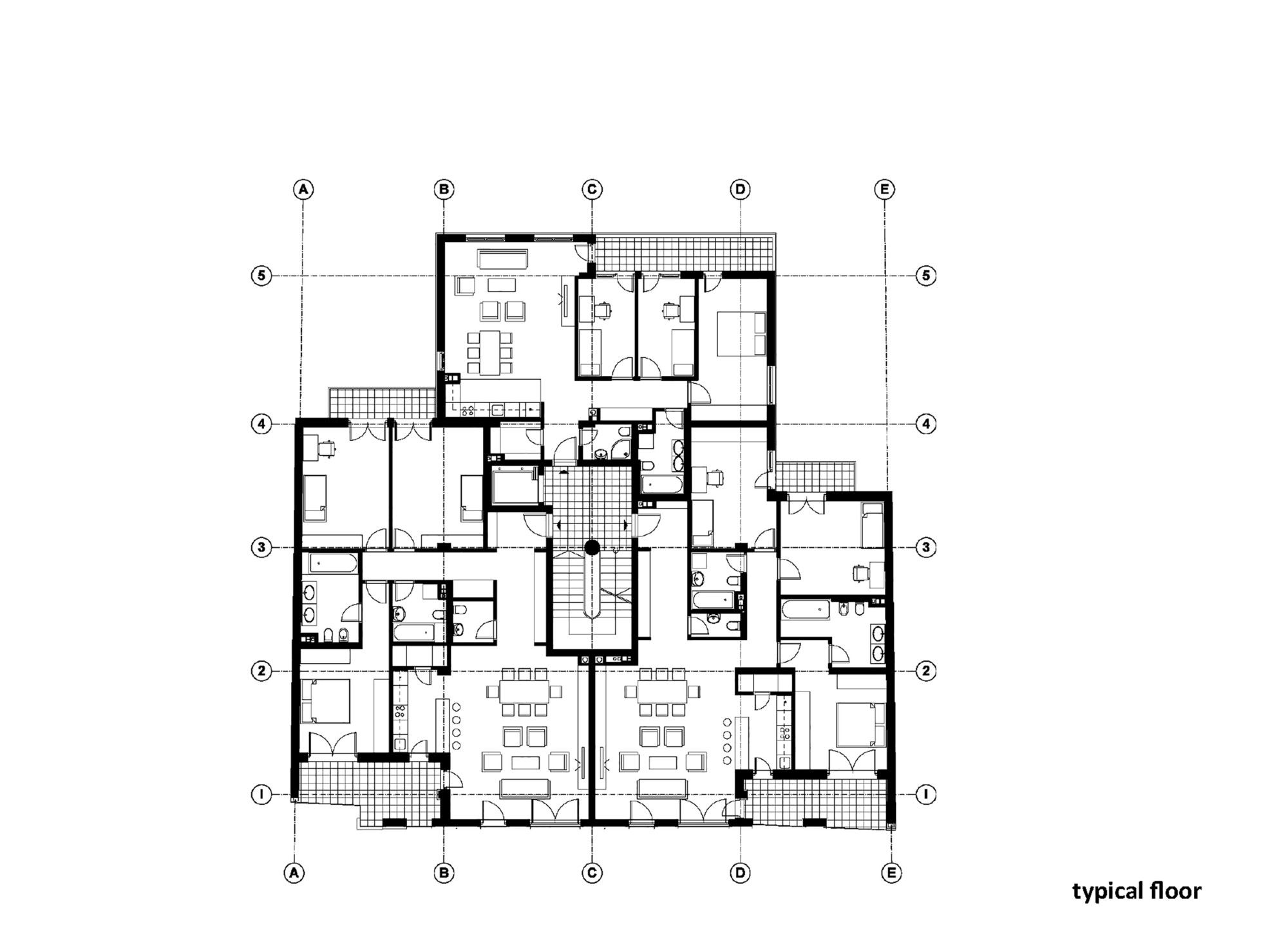 Image 15 Of 19 From Gallery Of Residential Building In Vase Stajica Street X2f Kuzmanov And Partners Typical Floo Residential Building Building Residential