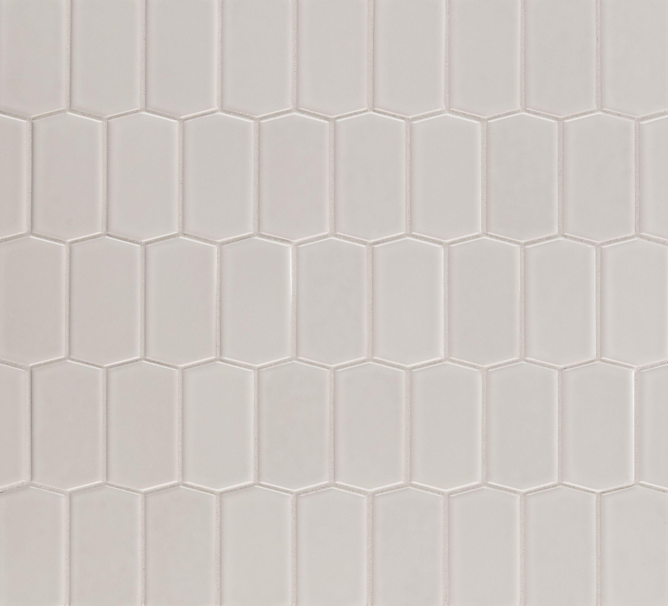 Ann Sacks Savoy Hive Ceramic Mosaic In Paperwhite