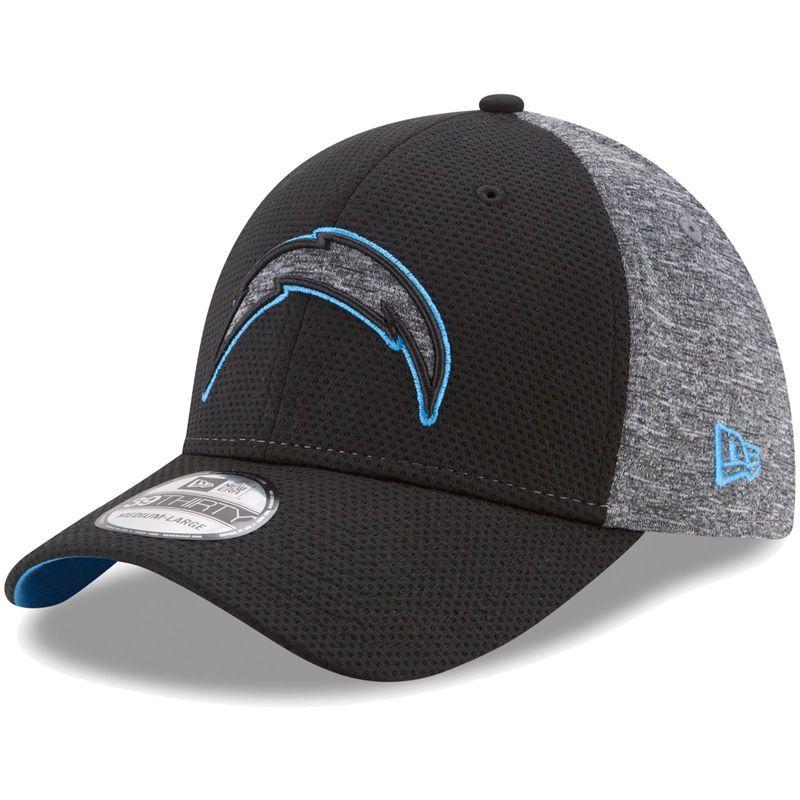 super popular 13696 a2197 Los Angeles Chargers New Era Fierce Fill 39THIRTY Flex Hat - Black Heathered  Gray