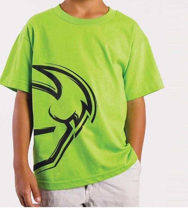 THOR MX SPLIT KAWASAKI GREEN T-SHIRT YOUTH SMALL BOYS