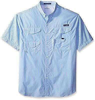 ef37282b156 Amazon.com: Columbia Men's Super Bonehead Classic Short Sleeve Shirt,  3X/Tall, White Cap/Gingham: Sports & Outdoors