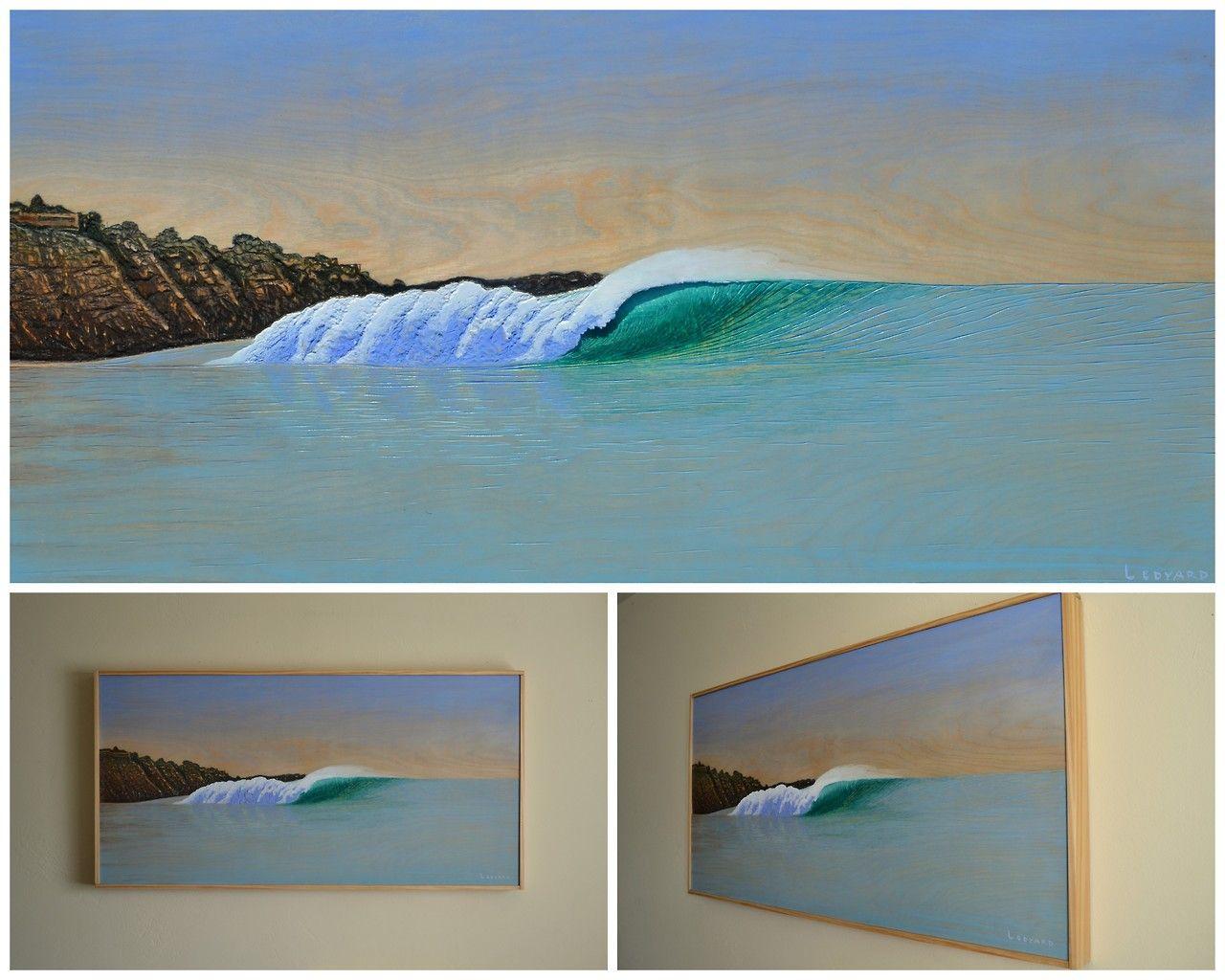 "Final version with frame. ""Blacks"" (24"" x 48"") Acrylic on hand ..."
